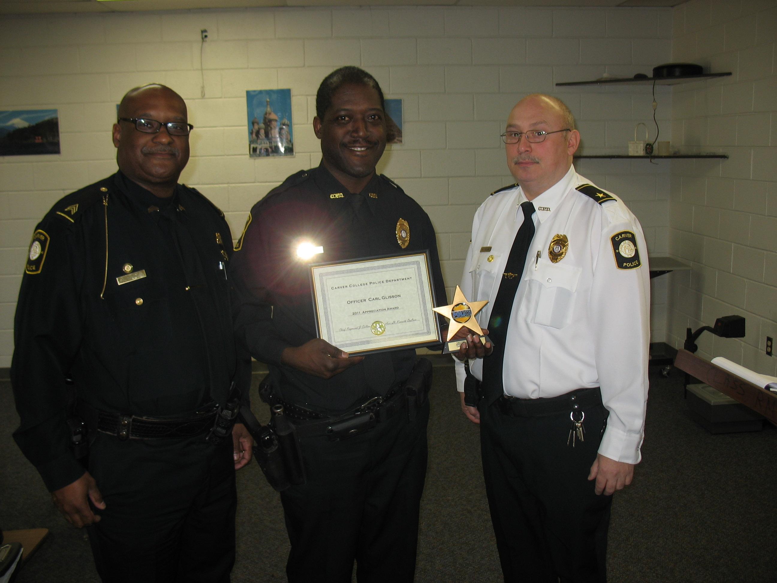 Sr. Officer Glisson - Appreciation Award